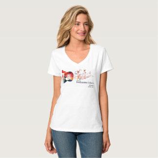 2017 DFfeier - Damen V - Hals T-Stück T-Shirt
