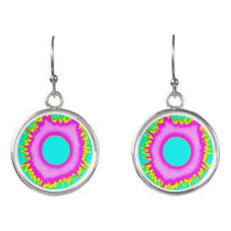 2017 Eclipse Earrings, Neon Series (Blue/Pink)