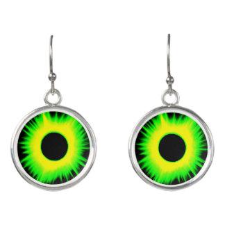 2017 Eclipse Earrings, Neon Series (Green)