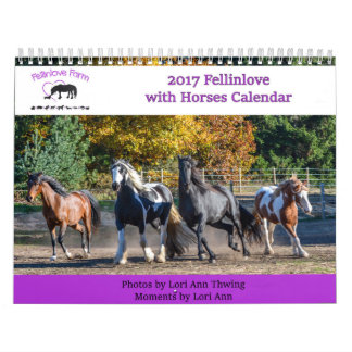 2017 Fellinlove mit Pferdekalender Abreißkalender
