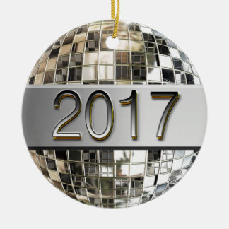 2017 funkelnde silberne Disco-Ball-Verzierung Keramik Ornament