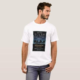 2017 GesamtSonnenfinsternis - der Libanon ODER T-Shirt