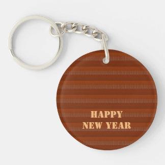 2017 glückliche NEWYEAR Schablone editable TEXT Schlüsselanhänger