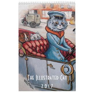 2017 illustrierter Katzen-Kalender - Louis Wain Wandkalender
