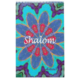 2017 Kalender Shalom Mandala-Single-Seite