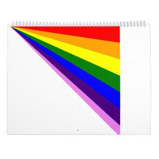 2017 linearer Regenbogen-Kalender Kalender