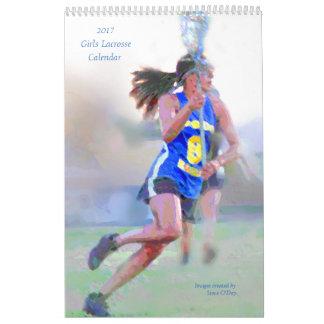 2017 Mädchenlacrosse-Kalender Wandkalender