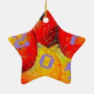 2017 neues Jahr Keramik Stern-Ornament