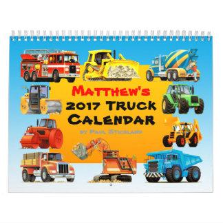 2017 Riese-Bau-LKW-Kalender Wandkalender