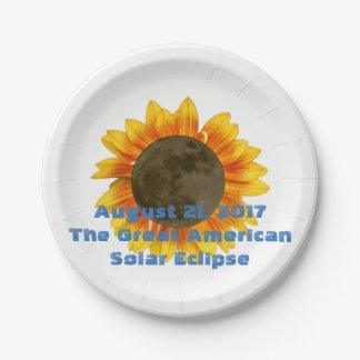 2017 Sonnenfinsternis, Sonnenblume-Ausgabe Pappteller
