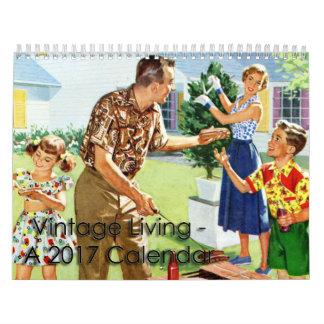 2017 Vintager lebender Kalender