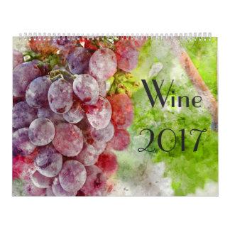 2017 Wein-Kunst-Aquarell-Kalender Wandkalender
