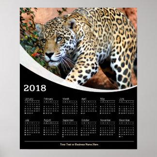 2018 anpirschender Leopard-Tier-Plakat-Kalender Poster