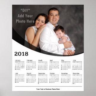 2018 DIY kundenspezifisches Foto-Kalender-Plakat Poster