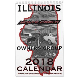 """""""2018"""" Inhaber-Gruppen-Kalender Illinois Monte Abreißkalender"""