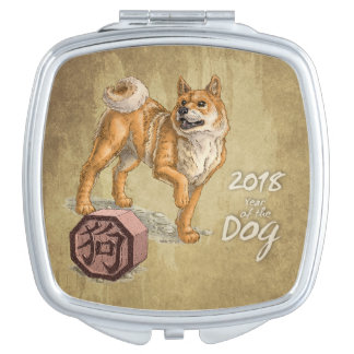 2018-jährig vom Hund Taschenspiegel
