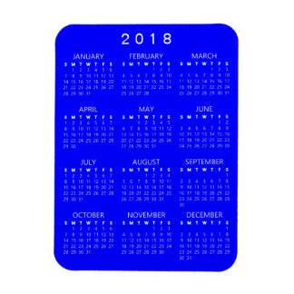 2018 Kalender-Magnet - Blau Magnet