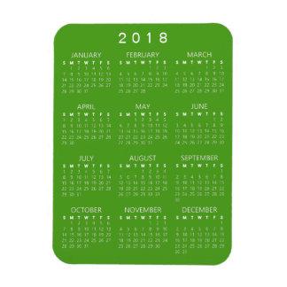 2018 Kalender-Magnet - blaues Grün Magnet