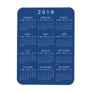 2018 Kalender-Magnet - dunkelblau Magnet