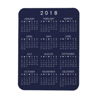 2018 Kalender-Magnet - dunkelgrau Magnet