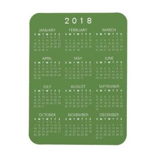 2018 Kalender-Magnet - Grün Magnet