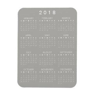2018 Kalender-Magnet - hellgrau Magnet