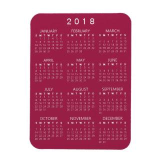 2018 Kalender-Magnet - Magenta Magnet
