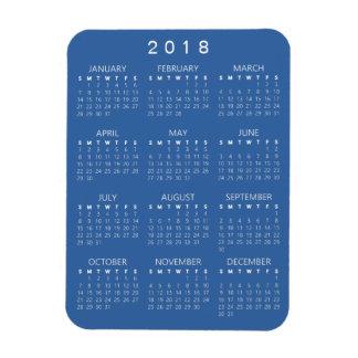2018 Kalender-Magnet - mittleres Blau Magnet