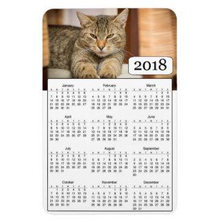 2018 Kalender-personalisierter Katzen-Foto-Magnet Magnet