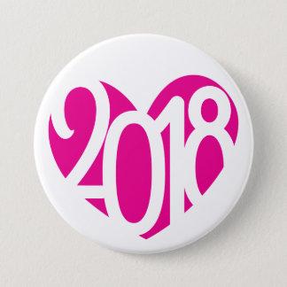 2018 Knopf/Abzeichen der Liebe 2018 des neuen Runder Button 7,6 Cm
