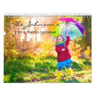 2018 Monats Foto-Kalender der Gewohnheits-  Abreißkalender