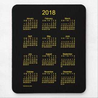 2018 Neon-Goldkalender durch Janz Mausunterlage Mousepad