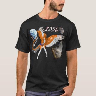 2036 sternartiges Pelzengelskaninchen-Drache-alien T-Shirt