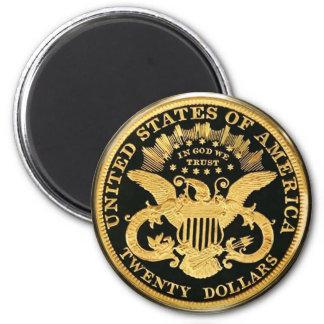 $20 doppelte Eagle Münze Kühlschrankmagnete