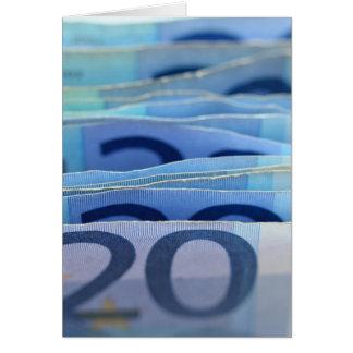 20-Euro - Scheine - Geld-Kunst Karte