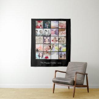 20 Foto-Schablonen-Collage personalisiert Wandteppich