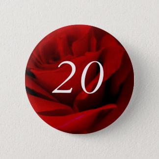 20. Geburtstag Runder Button 5,1 Cm