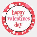 20 glückliche Valentinstag-Kuchen-Deckel Runde Sticker