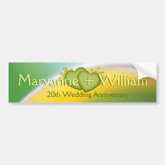 20. Hochzeits-Jahrestags-Party-Dekoration Autoaufkleber