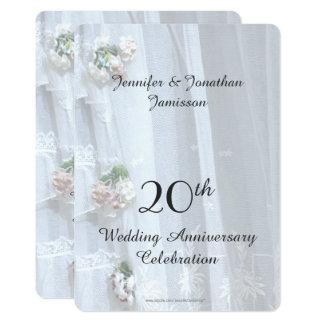 20. Hochzeits-Jahrestags-Party, Vintage Spitze Karte