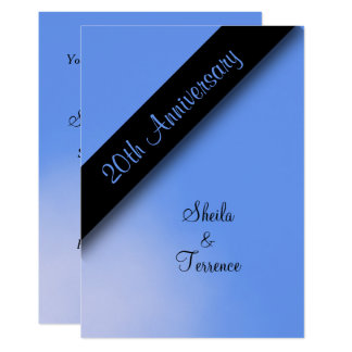 20. Hochzeitstag 12,7 X 17,8 Cm Einladungskarte