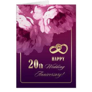 20. Hochzeitstag-Gruß-Karten Karte