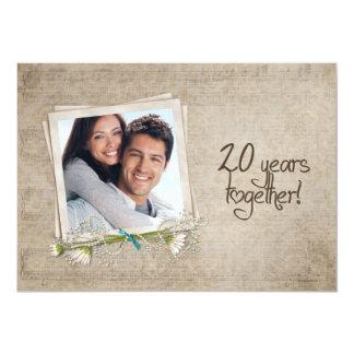 20. Hochzeitstag-offenes Haus 12,7 X 17,8 Cm Einladungskarte