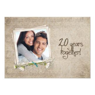 20. Hochzeitstag-Versprechen-Erneuerung 12,7 X 17,8 Cm Einladungskarte
