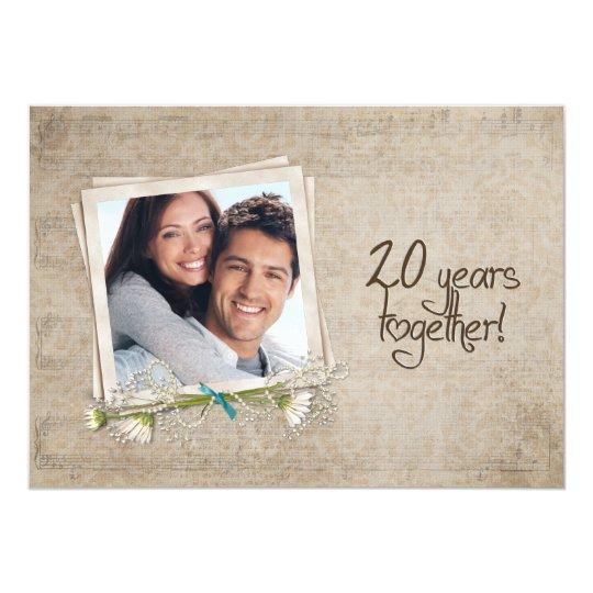 20 hochzeitstag versprechen erneuerung 12 7 x 17 8 cm einladungskarte zazzle. Black Bedroom Furniture Sets. Home Design Ideas
