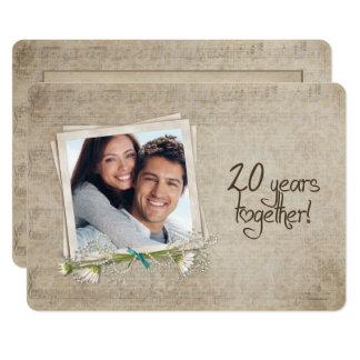 20. Hochzeitstag-Versprechen-Erneuerung Karte