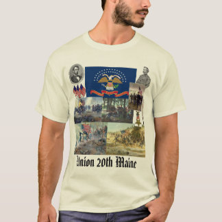 20. Infanterieregiment Maines freiwilliger ziviler T-Shirt