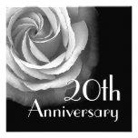 20. Jahr-Jahrestags-Einladung - WEISSE Rose