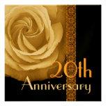 20. Jahrestags-Einladung - GOLDRose
