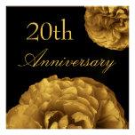 20. Jahrestags-Einladung - GOLDRosen